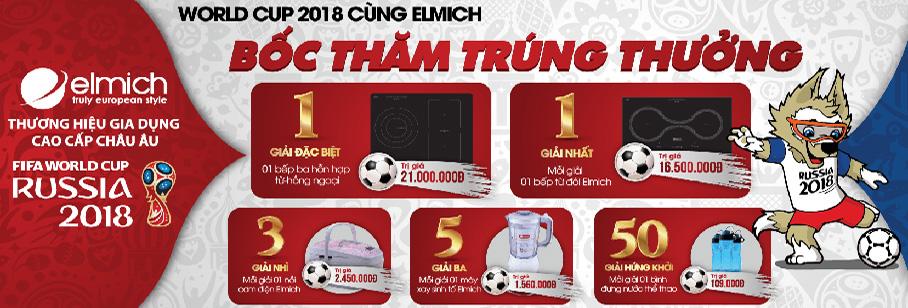 HỨNG KHỞI WORLD CUP 2018 CÙNG ELMICH: MAY MẮN LỚN- TRÚNG QUÀ TO, TỔNG GIẢI THƯỞNG LÊN ĐẾN 100 TRIỆU ĐỒNG