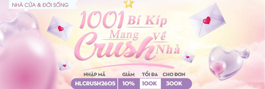 HLCRUSH2605  - Giảm 10% Tối đa 100k, cho đơn từ 300k tại Shopee Săn Hàng Rẻ