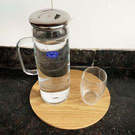 Bình Thuỷ Tinh Nắp Lọc Trà Inox Borosilicate Glass 1500ml
