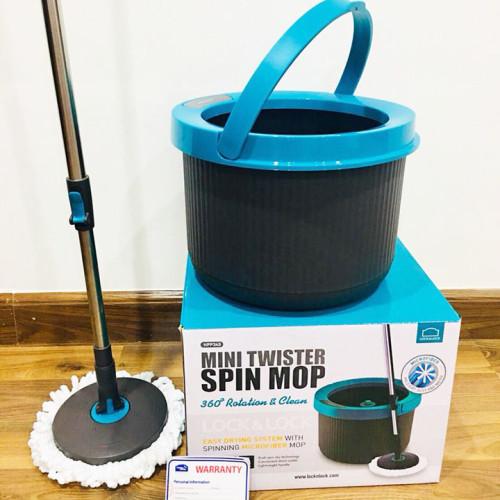 Cây Lau Nhà Lock&Lock Mini Twister Spin Mop Xoay 360 Độ HPP345