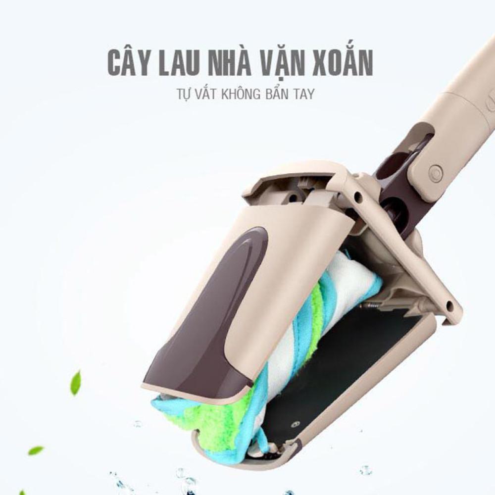 Cây Lau Nhà Vặn Xoắn VinaMop FC-53 Quà Tặng Panasonic