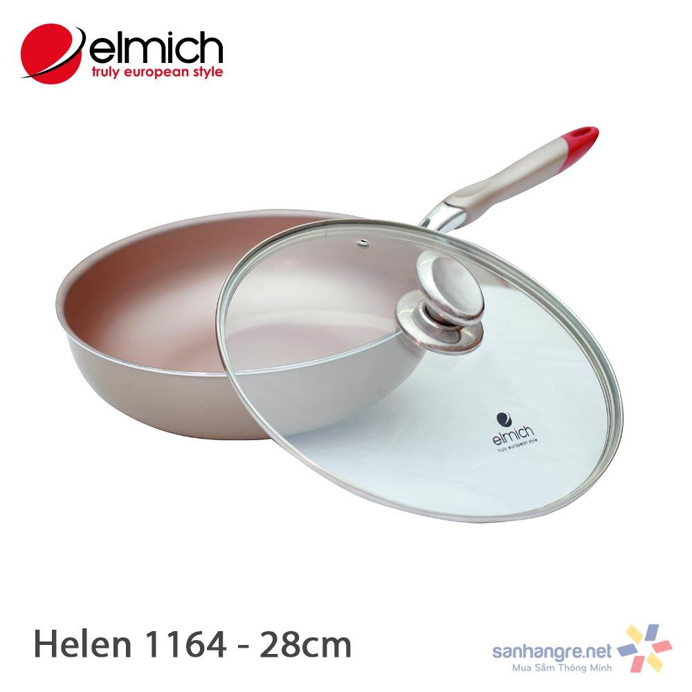 Chảo Nhôm Chống Dính Sâu Lòng Elmich Helen 28cm EL1164E dùng bếp từ