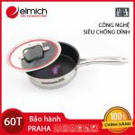 Chảo Chống Dính Inox 304 Elmich Praha 20cm EL-3247 dùng bếp từ, xuất xứ CH Séc bảo hành 5 năm
