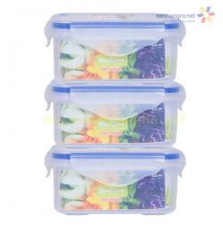 Bộ 3 hộp nhựa đựng thực phẩm BioZone 440ml