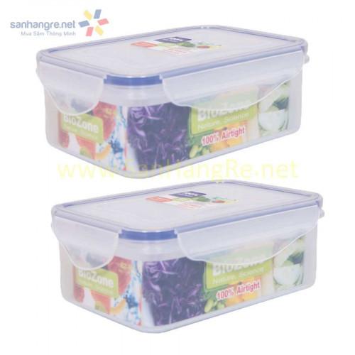 Bộ 2 hộp nhựa đựng thực phẩm BioZone 680ml