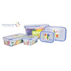 Bộ 5 hộp nhựa đựng thực phẩm BioZone BZ-5