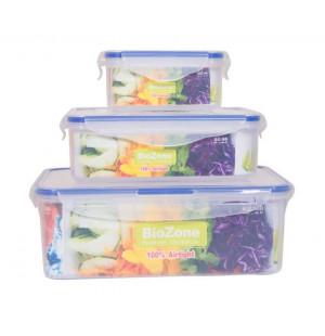 Bộ 3 hộp nhựa đựng thực phẩm BioZone BZ-3