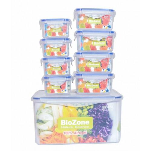 Bộ 9 hộp nhựa đựng thực phẩm BioZone BZ-9