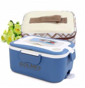 Hộp cơm hâm nóng tự động ruột Inox Golmes kèm túi (Xanh)
