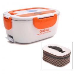 Hộp cơm hâm nóng tự động ruột Inox Galuz kèm túi (Cam)