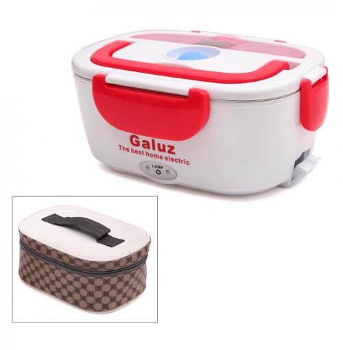 Hộp cơm hâm nóng tự động ruột Inox Galuz kèm túi (Đỏ)