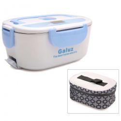 Hộp cơm hâm nóng tự động ruột Inox Galuz kèm túi (Xanh)