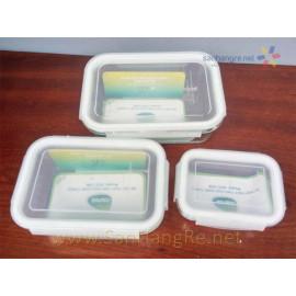 Bộ 3 hộp  thủy tinh chịu nhiệt Carez GCC 538