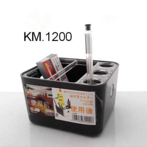 Hộp cắm bút để bàn KM 1200 hàng Nhật - Đen