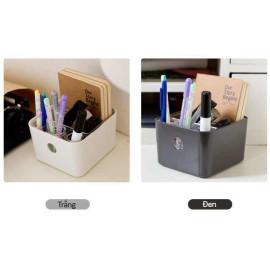 Hộp cắm bút để bàn KM 1200 hàng Nhật - Trắng