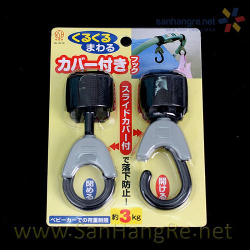 Bộ 2 móc treo xe đẩy dây đai dính 3kg Niheshi 6219 hàng Nhật