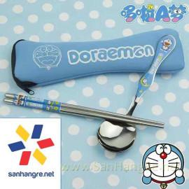 Bộ đũa thìa Inox cao cấp hình Doraemon Hàn Quốc