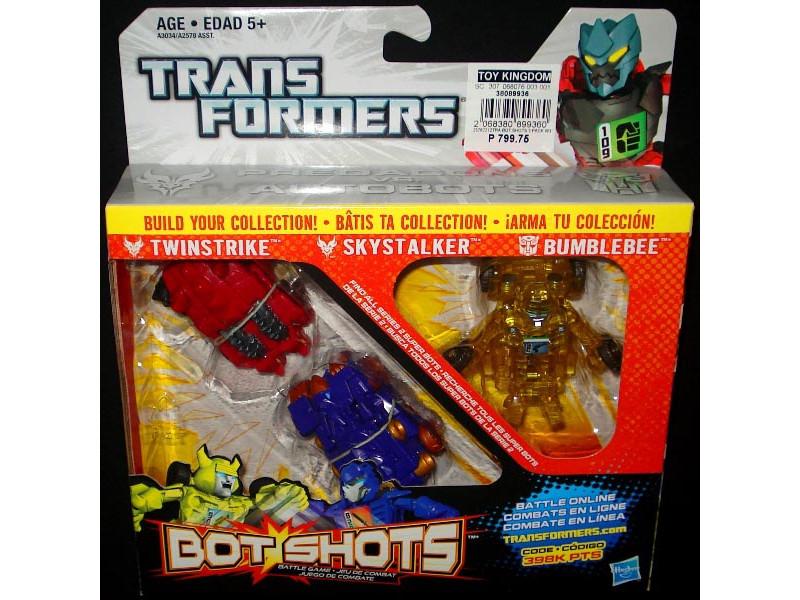 Bộ 3 đồ chơi Robot Transformer Mini Bot Shots - Twinstrike