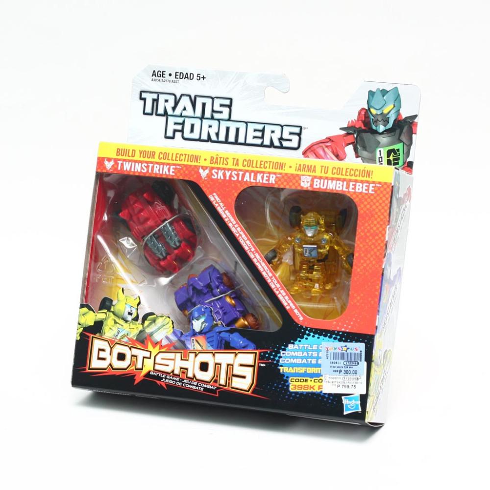Bộ 3 đồ chơi Robot Transformer Mini Bot Shots - Twinstrike, Skystalker và Bumblebee (Box)