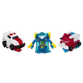 Bộ 3 đồ chơi Robot Transformer Mini Bot Shots - Red Alert, Ultra Magnus và Mirage (Box)