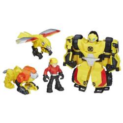 Robot Transformers Rescue Heroes biến hình 4 trong 1 - Bumblebee Rock