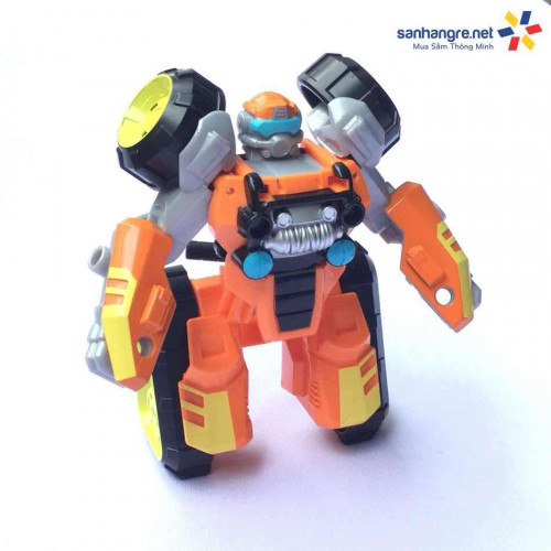 Robot Transformer Flight Bots 4M biến hình xe motor 4 bánh Brushfire