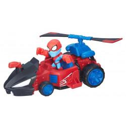 Đồ chơi mô hình xe bay và Spider Man