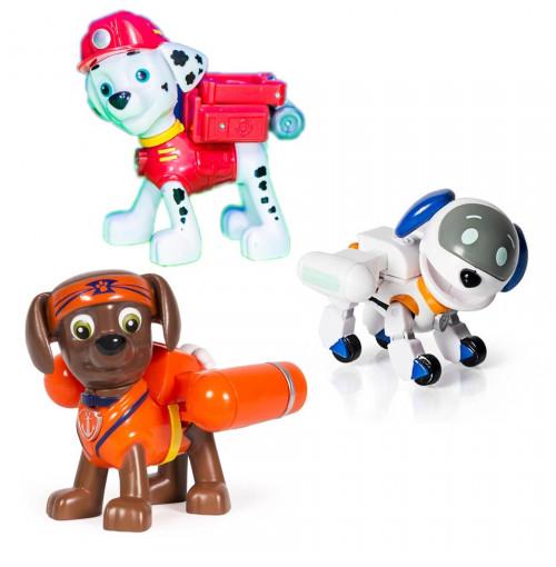 Bộ 3 chó Paw Patrol Hero Pup Toy - Karate Zuma, Marshall và Robodog