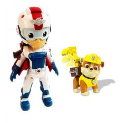 Đồ chơi đội trưởng Paw Patrol Rescue Ryder Flyman và Rubble