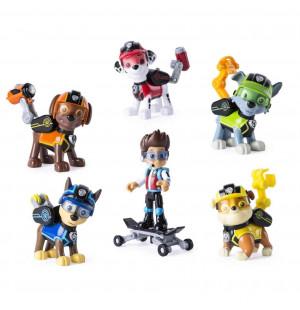 Bộ đội trưởng Ryder trượt ván patin và 5 chó chức năng Paw Patrol đeo kính