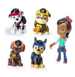 Bộ 4 chó ngồi Paw Patrol và Cô bé Katie