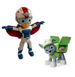 Đồ chơi đội trưởng Paw Patrol Rescue Ryder Flyman và Rocky