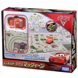 Bộ mô hình đường phố xe Takara Tomy Disney Pixar Cars Puzzle Drive McQueen chạy pin