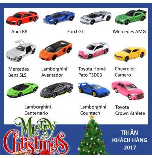 Set 12 xe mô hình ô tô Tomica - Quà tặng Noel 2018