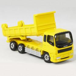 Xe ô tô tải mô hình Tomica Isuzu Giga Dump Truck màu vàng (No Box)