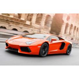 Siêu xe ô tô mô hình Tomica Lamborghini Centenario - đen viền vàng