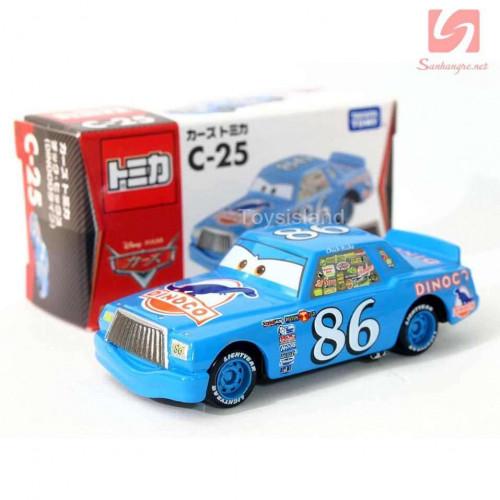Xe ô tô mô hình Tomica Disney Cars-Chick Hicks Dinoco 98 (Box)