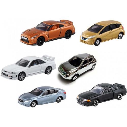 Bộ 6 xe ô tô mô hình Tomica Nissan (No Box)