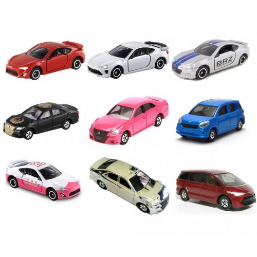 Bộ 9 xe ô tô mô hình Tomica Toyota (Không hộp)