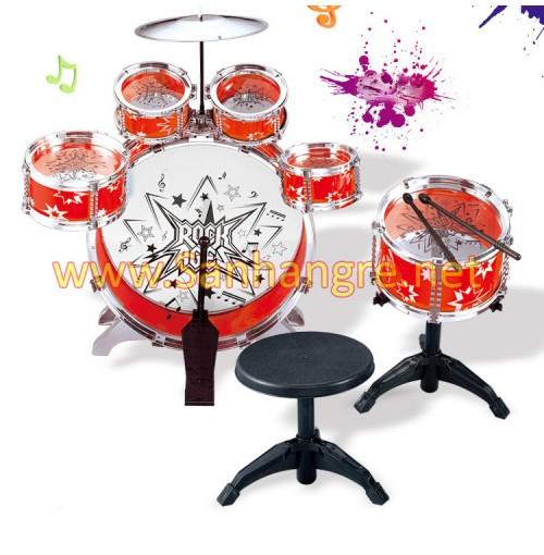 Bộ trống 6 món Jazz Drum Rock Age cho bé yêu