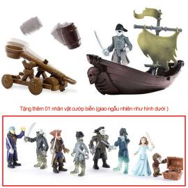 Đồ chơi Cướp biển Caribe : Thuyền, xe bắn đá và Cướp biển - Ghost Pirate Hunter (tặng thêm 1 nhân vật)