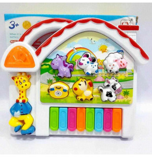 Đồ chơi đàn nhạc hình thú chạy pin Animal Cartoon