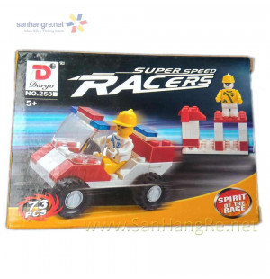 Đồ chơi lắp ráp xe đua mini Super Speed Racers kiểu Lego