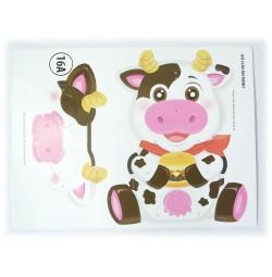 Bộ lồng đèn hóa trang Kibu 3 thứ lồng đèn, vòng tay, mặt nạ Bò con ăn bánh