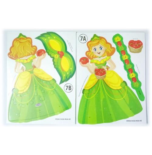 Bộ lồng đèn hóa trang Kibu 3 thứ lồng đèn, vòng tay, vương miện Công chúa