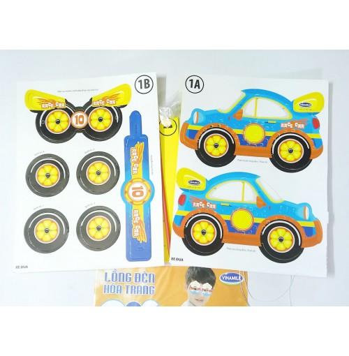 Bộ lồng đèn hóa trang Kibu 3 thứ lồng đèn, vòng tay, mặt nạ Xe đua