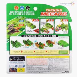 Đồ chơi ô tô biến hình thẻ bài Turning Mecard - Croky 2 (màu tím)