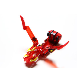 Đồ chơi ô tô biến hình thẻ bài Turning Mecard - Hydrone (màu đỏ)