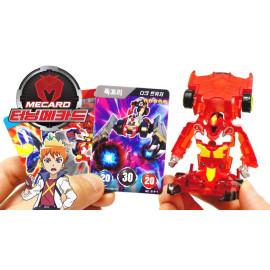Đồ chơi ô tô biến hình thẻ bài Turning Mecard - Shuma (màu đỏ)