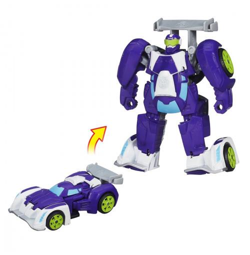 Đồ chơi Robot Transformer Rescue Heroes biến hình ô tô (Tím)